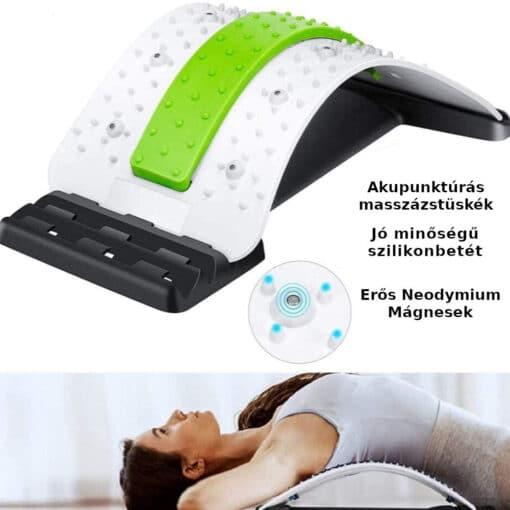 gerincdoktor gerincnyújtó hátnyújtó deréknyújtó deréklazító akupunktúrás mágneses pad derékfájás ellen